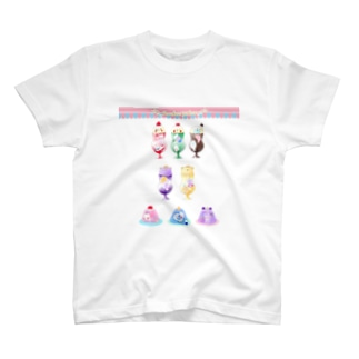 くりーむしょだ&おぽしさまゼリーメニュー T-shirts