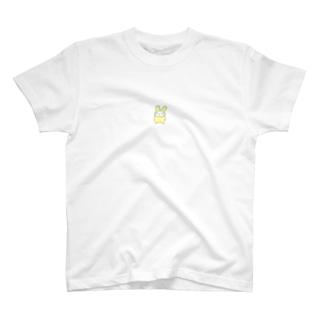 推し推しRabbit イエロー 裏面なしver. T-shirts