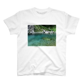 徳島の青【穴吹川_02】 T-shirts