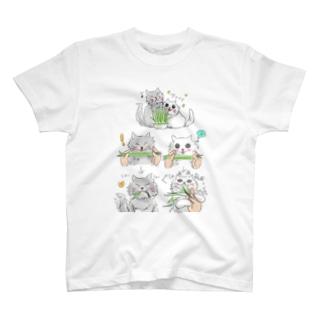 シノブデザイン のみー太とジャンケン T-shirts