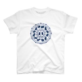 兎星座盤紺 T-shirts