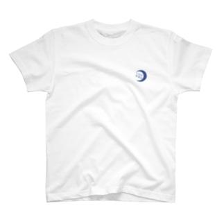 三日月釣具店T藍 T-shirts