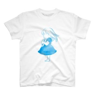 青空の女の子 T-shirts