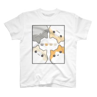 のぞき見にゃんこ T-shirts