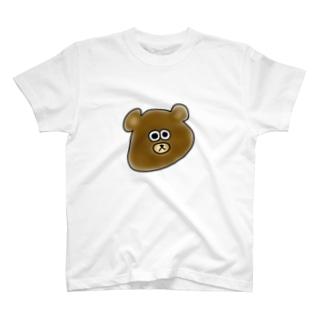 顔がのびてるクマ。 T-shirts