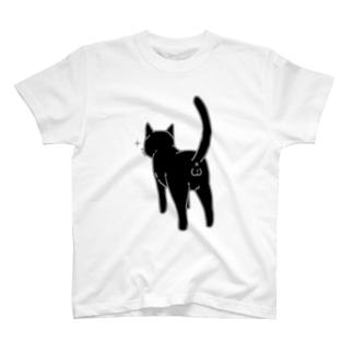 ねこけつω(黒猫) T-shirts