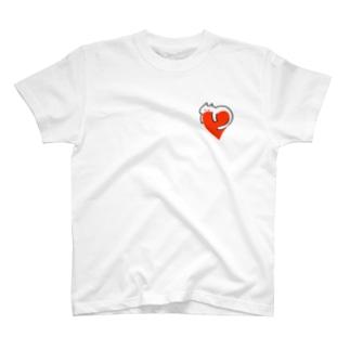 寄り添う・ねこ T-shirts