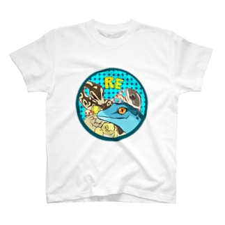 爬虫類いろいろ T-shirts