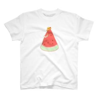 夏休み中のスイカ T-shirts