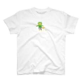 ほっかむりネコ(ワンポイント) T-shirts