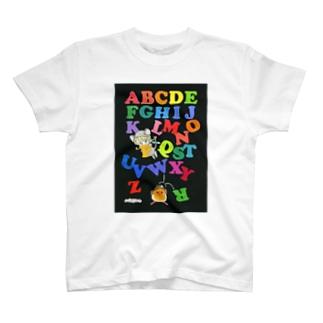 萩岩睦美のグッズショップのTシャツ ABC T-shirts