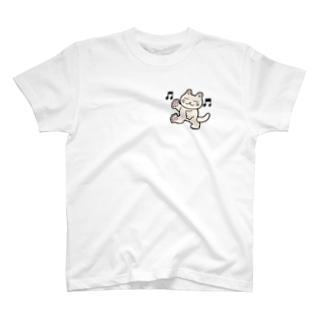 おどるにゃんこ T-shirts