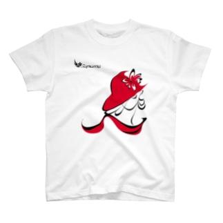 赤い女 T-shirts