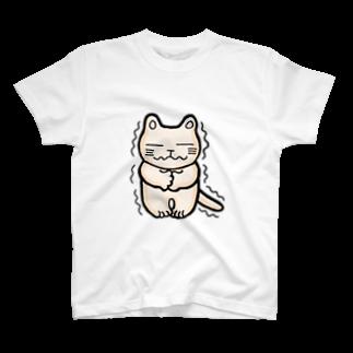 mikepunchのこごえるにゃんこ Tシャツ