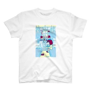 開放寝台+駅弁+YASCORN(水色) T-shirts