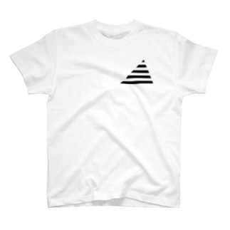 Cropping Border T(Triangle) / Black-Gray T-shirts