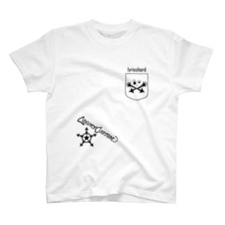 ベクトルPOCKET/スカル T-shirts