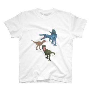 馬小屋の恐竜 T-shirts