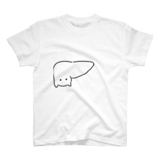 肝臓がニャンコ T-shirts