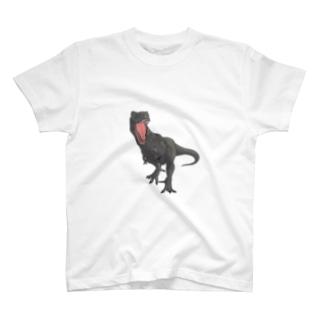 馬小屋のティラノサウルス ブラウン T-shirts