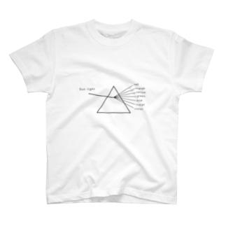 モノクロなプリズム(黒線) T-shirts