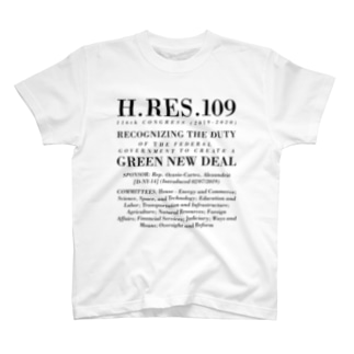 グリーン・ニューディール決議案|オーセンティックver T-shirts
