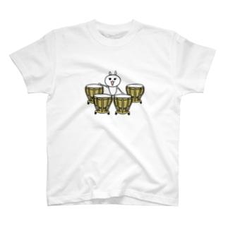 ティンパニを演奏するきらぽろちゃん(イラスト大ver) T-shirts