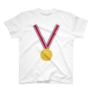 金メダル T-shirts