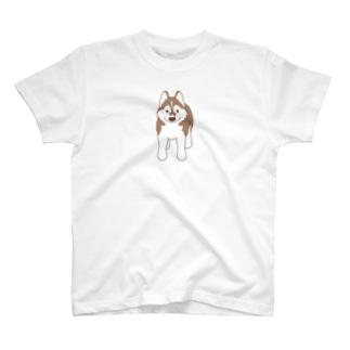 スタンダップハスキー3 T-shirts