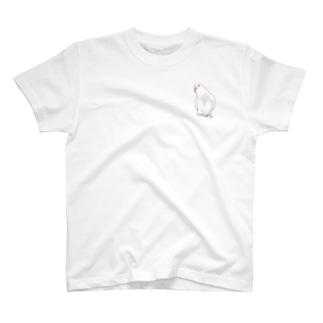 アルビノセキセイインコちゃん【まめるりはことり】 T-shirts