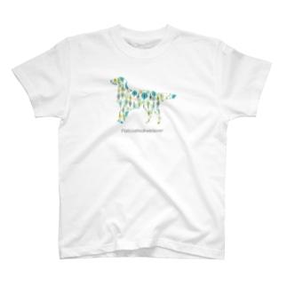 森 フラットコーテッドレトリバー T-shirts