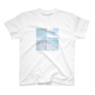 空、風車、飛行機。 T-shirts