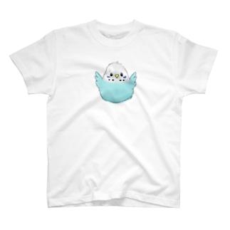水色セキセイインコ T-shirts