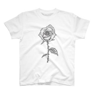 バラ(色なし) T-shirts
