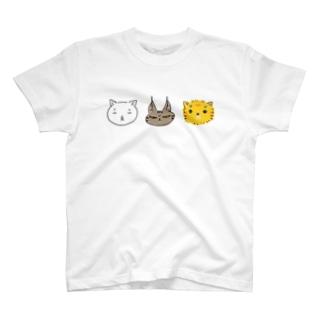 ネコチャン3カラー T-shirts
