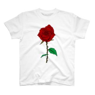 バラ(色あり) T-shirts