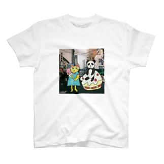 パンダと猫の美味しい旅 T-shirts
