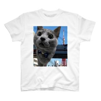 東京タワーとコハク T-shirts
