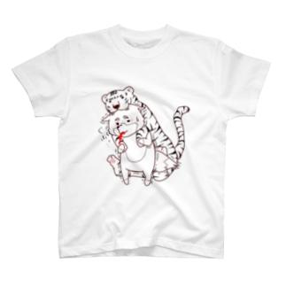 トラの威を借りきれてない狐。。。  その② T-shirts