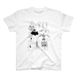 summerbun2020ブラック(表プリント) T-shirts