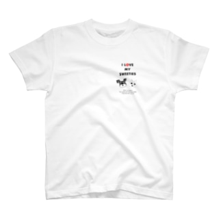 ブラック&ホワイト T-shirts