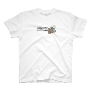 えぴぽろのおうち🐰ゆずぽろの昼休みの【楽譜あり】トッカータとフーガを弾くバッハ(イラスト小ver)【3色配色】 T-shirts