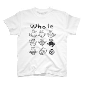 ホエールさん T-shirts
