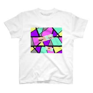 赤いくちびる💋(モザイク) T-shirts