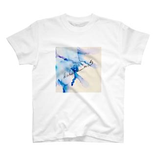 kohaku_no.5(Amber)のウェーブ文字入り T-shirts