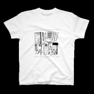 3pondSのモノトーンイラスト T-shirts