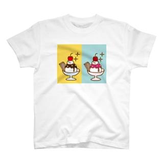 2×アイスクリーム T-shirts