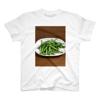 スナップエンドウ(無農薬) T-shirts
