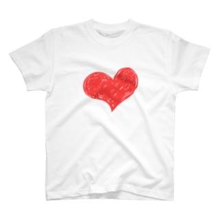 ハートマーク手書き T-shirts