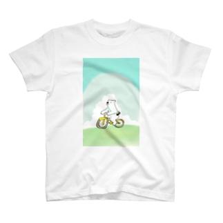 しろくまとちゃりんこ T-shirts
